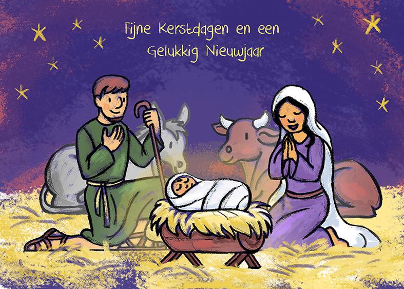 Fijne Kerstdagen En Een Gelukkig Nieuwjaar Sanne Tekent